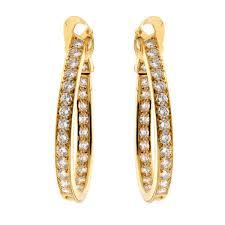 pics of gold earrings cleef arpels diamond hoop gold earrings opulentjewelers