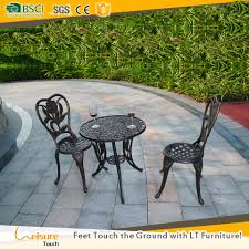 Patio Coffee Table Set by Cozy Cast Aluminum Garden 3 Piece Chairs With Coffee Table Set