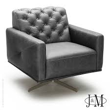 Leather Swivel Club Chairs Othello Italian Leather Swivel Chair In Light Grey J U0026m Furniture