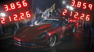 c7 corvette turbo turbo c7 corvette breaks the drag radial record