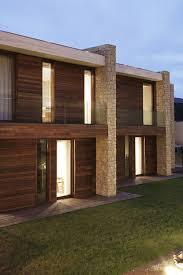 wood u0026 stone facade contemporary home in monasterios spain