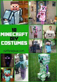minecraft costume 10 diy minecraft costume ideas our three peas
