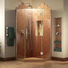 34 Shower Door Dreamline Prism Plus 72 X 34 Hinged Frameless Shower Door With