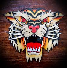 design tattoo hand traditional american tattoo style original hand painted tiger head