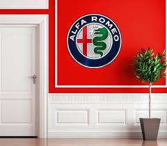 wall decals stickers home decor home furniture diy alfa romeo classic car badge wall art sticker modern lounge bedroom giulia