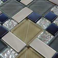 crystal glass tile sheets hand painted kitchen backsplash tile