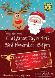 poster designed for valley infant u0027s christmas fayre 2013