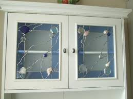 custom glass cabinet doors seashore cabinet doors by ladybug stained glass home decor ideas