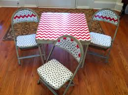 child39s folding table and chairs makeover project using laminated