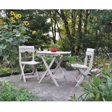 Patio Furniture Bistro Set - 3 piece easy fold outdoor bistro set in desert clay color