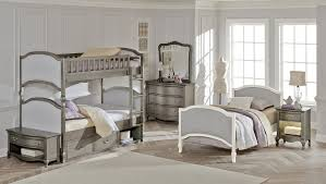 NE Kids Victoria Twin Upholstered Bunk Bed Antique Silver Kids - Upholstered bunk bed