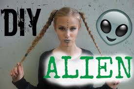 Alien Halloween Makeup by Diy Alien Costume Hair Makeup U0026 Youtube