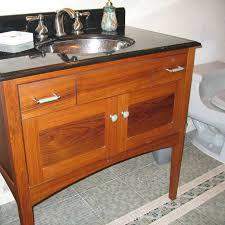 Mission Style Vanities Hand Crafted Custom Teak Furniture Style Bathroom Vanity By Near