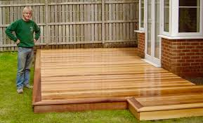 Garden Decking Ideas Uk Cedar Wood Garden Decking