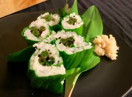 wasabi mustard foraged food recipes japanese knotweed and r sushi with