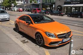 mercedes amg orange mercedes cls 63 amg s c218 2015 1 june 2015 autogespot