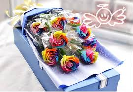 wedding gift delivery colorful soap flowers handmade wedding bouquets