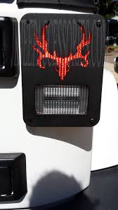 jeep back lights deer skull jeep wrangler jk tail light guards