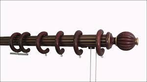 Drapery Rod Parts Rod Desyne White Traverse Heavy Duty Single Curtain Rod And