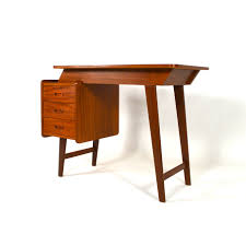 small teak writing desk small mid century teak writing desk d1412 sold tante eef design