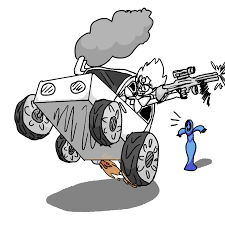 monster trucks clipart chill white diamond in a monster truck while using a machine gun