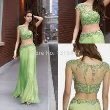 eye catching party wear dresses in lime green color outfit4girls com