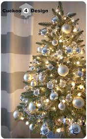silver decorated tree ideas silver and white