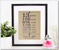 13th wedding anniversary gift ideas 13th wedding anniversary gift for husband 13th wedding