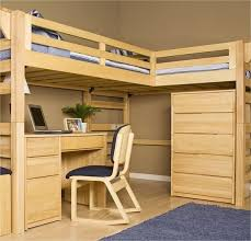 how to build a full size loft bed with desk and stairs