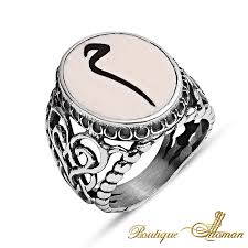 ivory ring made ivory mim silver ring with turtle sheld