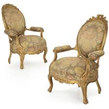 Louis 15th Chairs Pair Of French Louis Xv Antique Arm Chairs