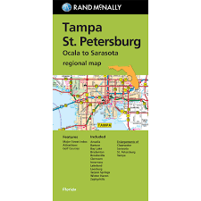 Clearwater Florida Map by Folded Maps Tampa St Petersburg
