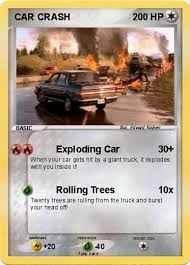 pokémon car crash exploding car my pokemon card