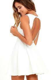 dress gal white skater dress white homecoming dress 49 00
