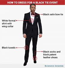 black tie attire what to wear to a black tie event business insider