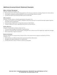 exciting resume achievement statements examples 82 about remodel