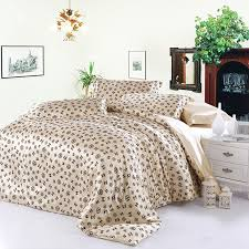 Leopard Bed Set New 100 Satin Silk 4pc Bedding Set Leopard Print Duvet Cover Bed