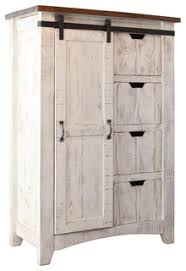 farmhouse armoire greenview barndoor dresser with 4 shelves and 4 drawers
