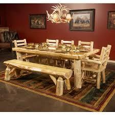Log Dining Room Table Solid Wood Cedar Dining Table Cedar Log Solid Wood Dining Table