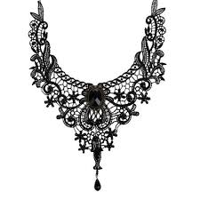 gothic collar necklace images Goth women retro vintage lace necklace collar gothic choker jpg