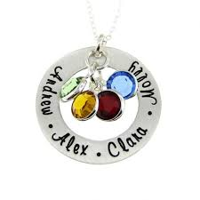 children s birthstone necklace jc jewelry design children s names with birthstones mothers