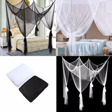 4 post bed black mosquito net 4 post poster bed canopy four corner mosquito