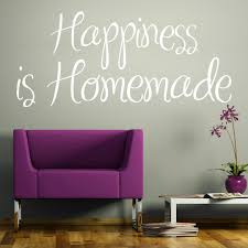 wall stickers quotes shop wall art com happiness is homemade wall sticker