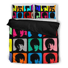 The Beatles Bed Set The Beatles Duvet Cover Set I Novelty Trends
