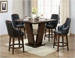 Round Counter Height Dining Table Set Foter - Counter height dining table swivel chairs