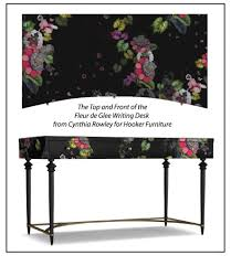the modern floral pattern on the fleur de glee writing desk takes