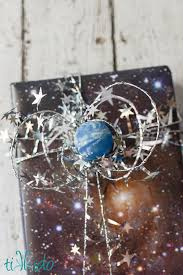 space wrapping paper easy outer space creative gift wrapping tutorial tikkido