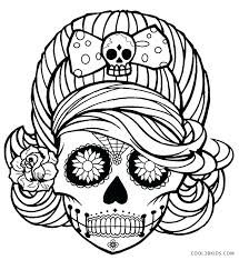amusing skull coloring pages printable in tiny day of the