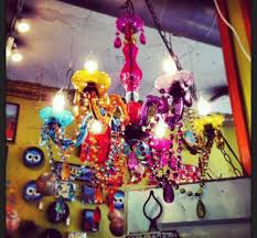 Colored Chandelier Chandelier Multi Colored The L O F T