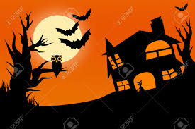 Halloween Owl Pictures Illustration Of Horror Halloween Night With Twilight Sky Full